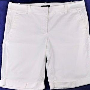 ANN TAYLOR white stretch cotton Bermuda shorts #12